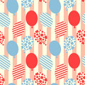 Seamless balloons pattern background Royalty Free Stock Photo