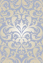 Seamless baroque wallpaper pattern Stock Photo