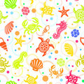 Seamless Beach Vector Pattern Stock Photography