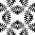 Seamless Beautiful Black Waves Pattern. Geometric Abstract Background.  Suitable for textile, fabric, packaging and web design. Royalty Free Stock Photo