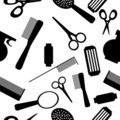 Seamless beauty salon pattern Stock Photography