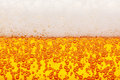 Seamless beer texture lager bubbles macro and froth Royalty Free Stock Photos