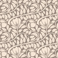 Seamless beige floral pattern dark lght vintage Stock Photography
