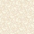 Seamless beige floral pattern. Vector illustration. Royalty Free Stock Photo