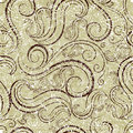 Seamless beige grunge abstract twirl pattern Stock Images