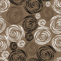 Seamless beige grunge rose pattern Royalty Free Stock Photo
