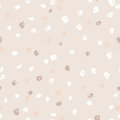 Seamless beige ink dots pattern. Vector grunge background. Vector illustration. Royalty Free Stock Photo
