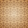 Seamless beige pattern wallpaper in victorian style vector illustration Royalty Free Stock Photos