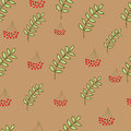 Seamless berry pattern Stock Images