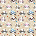 Seamless bicycle pattern Royalty Free Stock Photos
