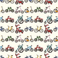 Seamless bicycle pattern Stock Images
