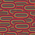 Seamless  big oval pattern  in a retro style Stock Image