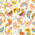Seamless bird pattern Royalty Free Stock Photos