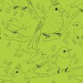 Seamless bird theme pattern this is file of eps format Stock Photography
