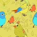 Seamless bird theme pattern this is file of eps format Royalty Free Stock Photography