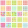 Seamless birthday pattern easy to edit illustration of Stock Photos