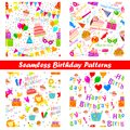 Seamless birthday pattern easy to edit illustration of Royalty Free Stock Photos