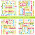 Seamless birthday pattern easy to edit vector illustration of Stock Photos
