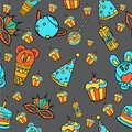 Seamless birthday pattern.