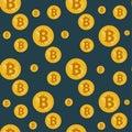 Seamless bitcoin pattern