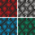 Seamless black abstract pattern background in four colors on a picture a is presented set of Stock Image