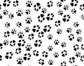 Seamless black background from animals tracks