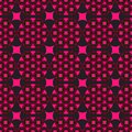 Seamless black background with red geometric shapes