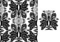 Seamless black damask pattern Stock Photography