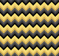 Seamless black and gold double palette blend chevron zigzag pattern vector
