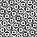 Seamless black ornament pattern Royalty Free Stock Photos