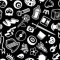 Seamless Black Pattern Stock Photos