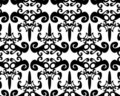 Seamless black pattern Royalty Free Stock Images