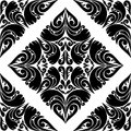Seamless black pattern on a white background is presented Stock Image