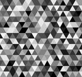 Seamless black white abstract pattern. Geometric print composed of triangles. Monochrome background.