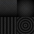 Seamless black and white abstract pattern set geometric illustration in cs eps format vector with transparency Royalty Free Stock Photography