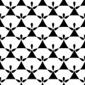 Seamless black and white angel wings pattern Royalty Free Stock Photo