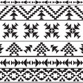 Seamless black and white aztec pattern Royalty Free Stock Image