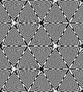 Seamless Black and White Chessboard Triangles Pattern. Geometric Abstract Background. Optical Illusion of Perspective.