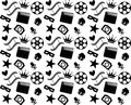 Seamless black and white cinema pattern this is file of eps format Royalty Free Stock Images