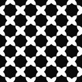 Seamless black and white curved octagon pattern
