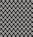 Seamless black and white geometric netting pattern grating background grate lattice Royalty Free Stock Images