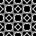 SEAMLESS BLACK AND WHITE GEOMETRIC PATTERN Royalty Free Stock Photo