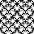 Seamless black and white geometric vector background, simple str