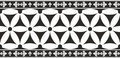 Seamless black-and-white gothic floral border Stock Images