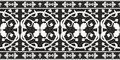 Seamless black-and-white gothic floral pattern Royalty Free Stock Photo