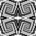 Seamless Black, White and Grey Spirals of the Rectangles Expanding from the Center. Optical Illusion of Perspective Royalty Free Stock Photo