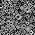 Seamless black-and-white pattern Stock Images