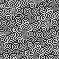 Seamless black and white pattern Royalty Free Stock Photo