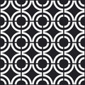Seamless black and white pattern Royalty Free Stock Image