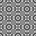 Seamless black and white pattern